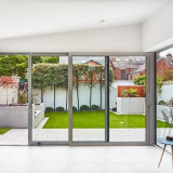 Double vitrage décoratif des portes coulissantes en aluminium
