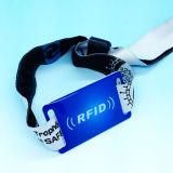 HY16はイベントのためのRFID NFCの祝祭の布のリスト・ストラップをカスタム設計する