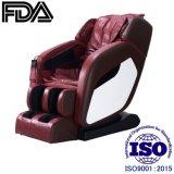 Venta caliente en forma de L sillón de masaje automático vía con el manipulador, rojo vino