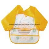 防水PE PVCに黄色いエプロンスモックの胸当ての製造業者を入れるOEMのカスタム子供の絵画演劇