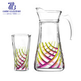 7ПК Новая конструкция цвет опрыскивания стеклянный кувшин воды,