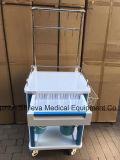 ABSプラスチック病院の工場供給の麻酔のカートの薬剤のトロリー