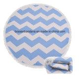 OEMはプリント綿のMicrofiberのハンバーガー円形浜の浴室タオルの製造者をカスタム設計する