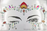 Fácil de utilizar el cuerpo Glitter cara Diamante CZ joyas de moda del tatuaje temporal pegatinas cara Parte (SR-40)