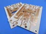 PCB à haute fréquence faites sur RO4350B avec la sérigraphie noire et l'or sur le côté supérieur