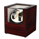 Caixa de relógio de elevador de vidros de madeira armazenamento rotador caso