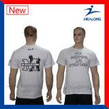 De Healong T-shirts estampés par écran de sublimation et de coutume de teinture entièrement