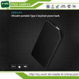 Batería portable ultra fina 10000mAh de la potencia con el tipo acceso de C