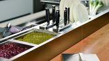 Armário de cozinha laca vermelha moderna (KQ-001)