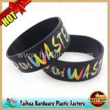 Wristband enchido tinta do silicone para relativo à promoção (TH-05208)