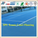 CnS02によってカスタマイズされる屋外Spuのテニスコートはフロアーリングのテニスコートの表面を遊ばす