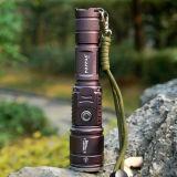 Klassische versteckte USB-Auslegung CREE Xm-L T6 USB-Leistung-Bank-Taschenlampe Poppas-6611