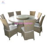 Mobilia esterna del vimine della Tabella della presidenza della mobilia del rattan del sofà di vimini