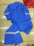 Heißer Verkaufs-blauer Farben-Sicherheits-Overall für schützende Arbeitskräfte