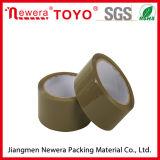 Cinta adhesiva material de acrílico del embalaje del color BOPP de Brown