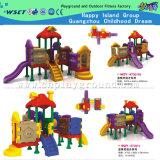 学校の組合せのプラスチックスライドの子供の屋外の運動場(HD-W-473-14)