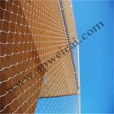 Связанная Ss304 сетка кабеля для сетки балкона защищая
