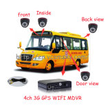 VehicleおよびRemote Area Surveillanceのための64G/128g SD Mobile DVR 4 Channels