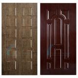 Neue Entwurfs-Rückseite angehobene Melamin MDF-Tür-Häute mit Teakholz-Farbe