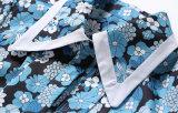 Camicia dei manicotti delle donne di alta qualità stampate ultimo modo della molla e pantaloni di scarsità lunghi a due pezzi