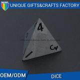 Logo gravé côté Cutomize 4 dés de dés le métal