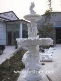대리석 조각품 정원 분수