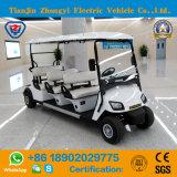 Zhongyi 6 Sitze weg Straßen-batteriebetriebener klassischer Doppelventilkegel-vom elektrischen besichtigengolf-Auto für Großverkauf