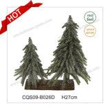 Decorazione artificiale dell'albero di Natale della Tabella di inverno del fiore del POT di H24-70cm