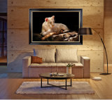 La decoración de alta calidad al por mayor de pintura al óleo, pintura de la decoración del hogar, el arte de pintar (Leones)