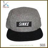 カスタム反射ロゴの麻5のパネルの急な回復の帽子の帽子