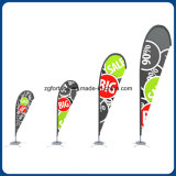 Promoção Preço Publicidade ao ar livre Teardrop Flying Banner Feather Flag Banner