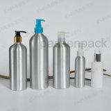 Botella de aluminio blanca de la crema del cuidado de piel con la bomba del dispensador de la loción (PPC-ACB-037)