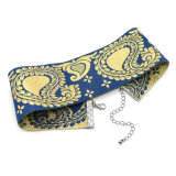 De etnische Halsbanden van de Nauwsluitende halsketting van het Patroon van het Paleis van de Lovertjes van de Helling van de Gradiënt van de Kleur van de Stijl Marineblauwe Gouden Eenvoudige Brede voor Vrouwen