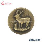 Pin vendedor superior de la solapa del metal de la divisa del oro