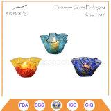 Supporto di candela di vetro di figura del fiore, lanterna della candela