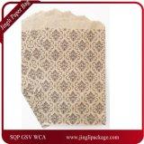 Kraft 까만 다마스크천 인쇄, 매일 사용 물색 종이 봉지를 가진 편평한 상품 부대