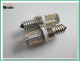 高い明るさLEDライトとのE12シリコーンLEDの球根2W AC/DC12V