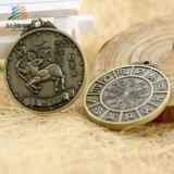 Medaglia Bronze antica diretta di abitudine del ricordo della fabbrica