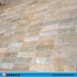 Mattonelle di pavimento gialle del mosaico della pietra della bramma