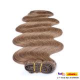 도매 인도 Remy 사람의 모발 연장 두 배에 의하여 당겨지는 두꺼운 머리