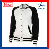 Healong中国の卸し売り衣類ギヤよいデザイン女性野球のジャケット
