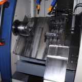 precio de fábrica cama inclinado de alta velocidad de huso Torno CNC (CK-40L)