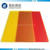 De berijpte Gele Rode Plastic Plaat van het Polycarbonaat van de tweeling-Muur