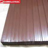 Mattonelle ondulate del metallo colorate strato del tetto