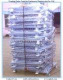 Gaiola de paletes de malha metálica dobrável para armazém