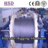 E. as amarras de cabo de aço galvanizado para elevação com certificado