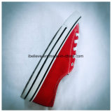 Обувь холстины красного цвета классическая плоская с PVC Outsole