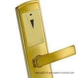 Высокий уровень безопасности электронный замок двери отеля разблокирован с помощью карт RFID в позолоченный никель
