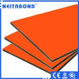 Precios de aluminio de la hoja del revestimiento del mejor panel compuesto de aluminio de la calidad para la decoración exterior