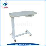 Table Overbed à l'hôpital avec deux tiroirs